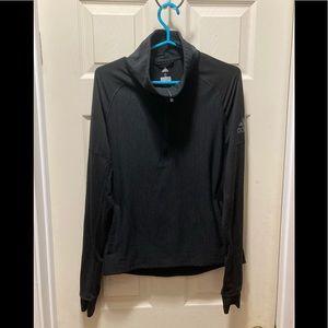 Adidas ladies small half zip black sweatshirt